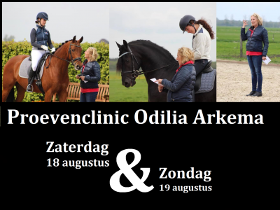 Startlijst proevenclinic 18 en 19 augustus